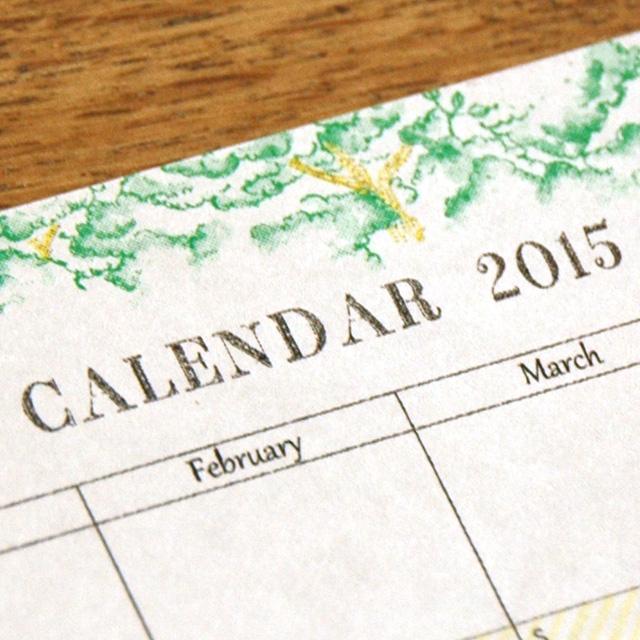 YEARLY CALENDAR 2015