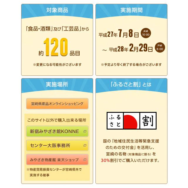 「日本のひなた宮崎県産品」割引販売開始!