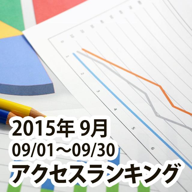 2015年9月の記事ランキング